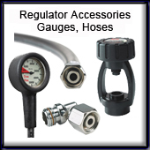 Gauges, Hoses, Regulator Access.
